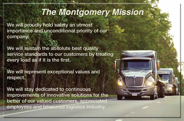 The Montgomery Transport LLC Mission Statement